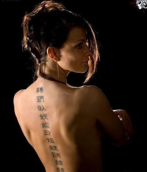 老外身上雷人的汉字纹身