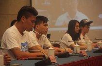 香港公開大學李佳斌代表港傳媒學子發言。(大公報記者張琰清 攝)